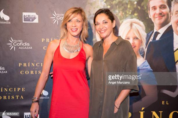 Eva Isanta and Virginia Plaza attend 'El Principe Y La Corista' Madrid Premiere on July 10 2017 in Madrid Spain