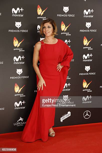 Eva Isanta attends the 2016 Feroz Cinema Awards at Duque de Patrana Palace on January 23 2017 in Madrid Spain