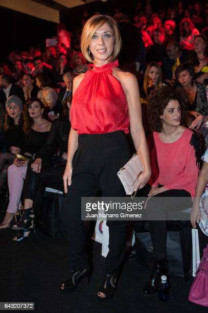 Eva Isanta attends the front row of Esther Noriega show during Mercedes Benz Fashion Week Madrid Autumn / Winter 2017 at Ifema on February 20 2017 in...