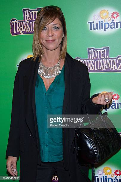Eva Isanta attends the 'Hotel Transilvania 2' premiere at the Capitol cinema on October 17 2015 in Madrid Spain