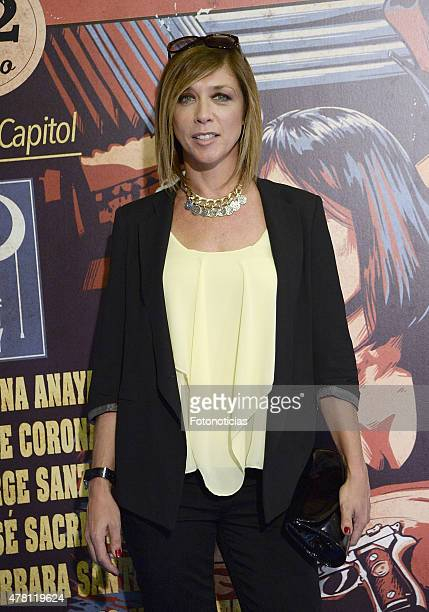 Eva Isanta attends the 'One Night Only Pulp Fiction ' Madrid Premiere at the Capitol Cinema on June 22 2015 in Madrid Spain