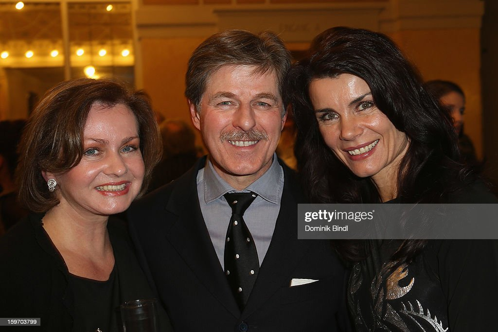 Eva Kummeth, Horst Kummeth and Nicola Tiggeler attend the Bavarian Movie Awards 2013 after party on January 18, 2013 in Munich, Germany.