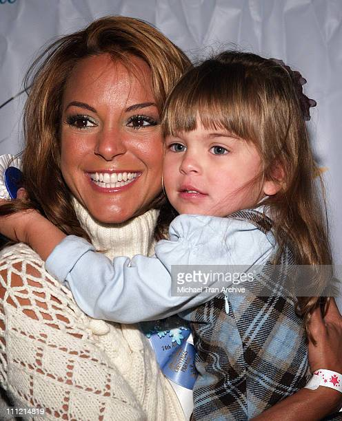 Eva La Rue and daughter Kaya during The 74th Annual Hollywood Christmas Parade Arrivals at Hollywood Roosevelt Hotel in Hollywood California United...