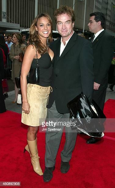 Eva La Rue and husband John Callahan during Unfaithful New York Premiere at Ziegfeld Theatre in New York City New York United States
