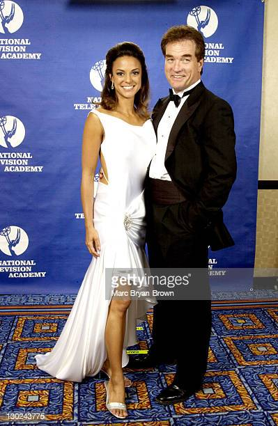 Eva La Rue and John Callahan presenters during 31st Annual NATAS Daytime Emmy Craft Awards Press Room at Mariott Marquis in New York City New York...