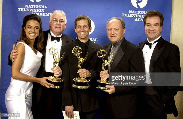 Eva La Rue and John Callahan with Winners of Daytime Drama Technical Direction for ABC's 'All My Children'