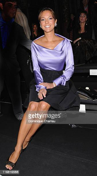 Eva La Rue attends the Elie Saab Fashion show during Paris Fashion Week SpringSummer 2008 at Grand Hotel on January 23 2008 in Paris France