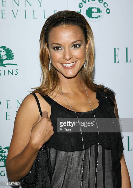 Eva La Rue during ELLE Green Issue Launch Party Arrivals at Boulevard 3 in Hollywood California United States