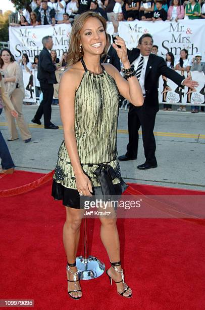 Eva La Rue during Mr Mrs Smith Los Angeles Premiere at Mann's Westwood in Westwood California United States