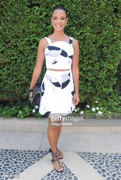 Eva LaRue arrives at The Rape Foundation's Annual Brunch at a private residence on October 8 2017 in Los Angeles California