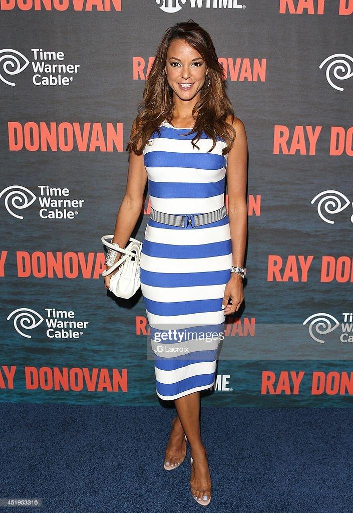 <a gi-track='captionPersonalityLinkClicked' href=/galleries/search?phrase=Eva+LaRue&family=editorial&specificpeople=226694 ng-click='$event.stopPropagation()'>Eva LaRue</a> attends the Season 2 Premiere Of Showtime's 'Ray Donovan' at Nobu Malibu on July 9, 2014 in Malibu, California.