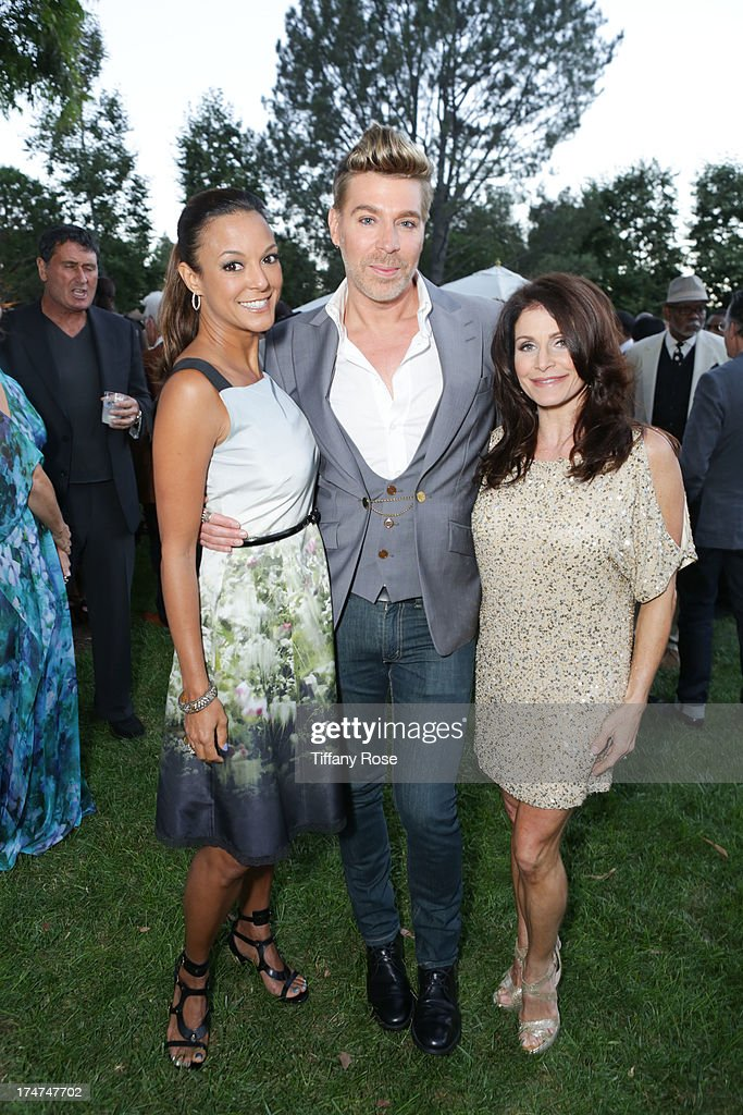 Eva LaRue, Chaz Dean and Joanne Dean attend the 15th Annual DesignCare benefiting The HollyRod Foundation on July 27, 2013 in Malibu, California.