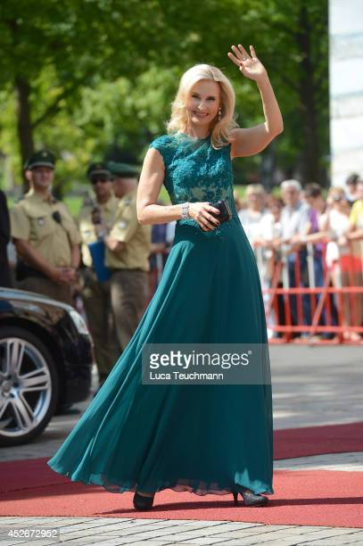 Eva Lind attends the Bayreuth Festival opening on July 25 2014 in Bayreuth Germany
