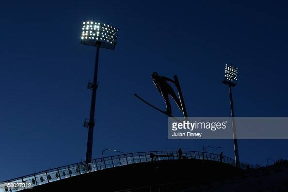 Eva Logar of Slovenia competes in a Ski Jump during the FIS Ski Jumping World Cup at the RusSki Gorki venue on December 9 2012 in Sochi Russia