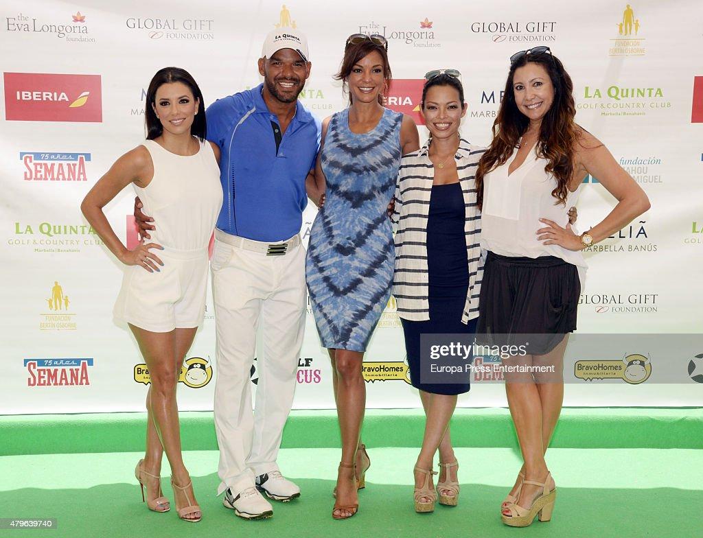 Eva Logoria Amaury Nolasco Eva LaRue Alina Peralta and Maria Bravo attend the Global Gift Celebrity Golf Tournament 2015 to raise money for the Eva...