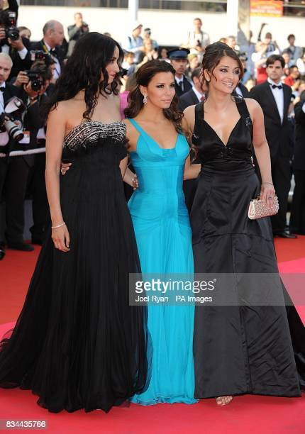 Eva Longoria and Aishwarya Rai arrive for the screening of 'Blindness' during the 61st Cannes Film Festival in Cannes France