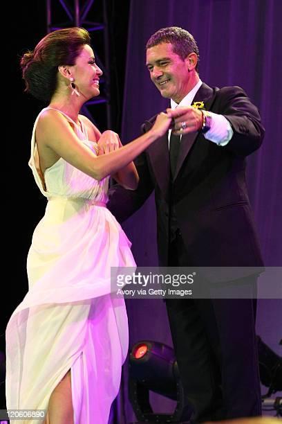 Eva Longoria and Antonio Banderas attend the Starlite Charity Gala 2011 produced by Avory Celebrity Access and Manda Events at the Villa Padierna...