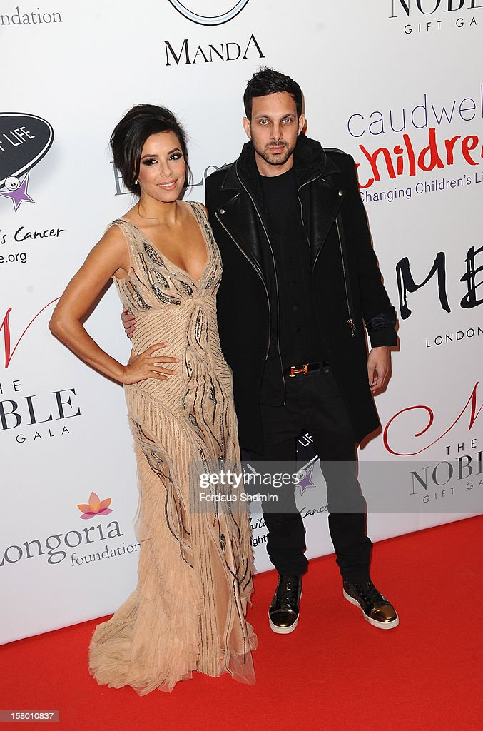 Eva Longoria and Dynamo attend the Noble Gift Gala at The Dorchester on December 8, 2012 in London, England.