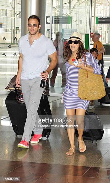 Eva Longoria and Ernesto Arguello are seen on July 31 2013 in Marbella Spain