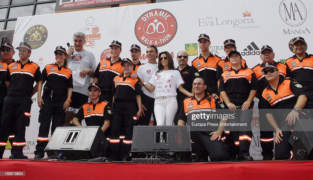 Eva Longoria and Fernando Romay attend the Dynamic WalkaThon a charity long walk through the city of Marbella to raise benefits for Cesare Scariolo...