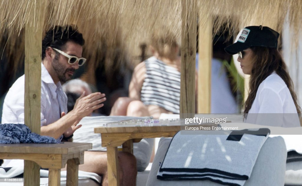 Eva Longoria and her husband Jose Baston are seen on July 16, 2017 in Marbella, Spain.