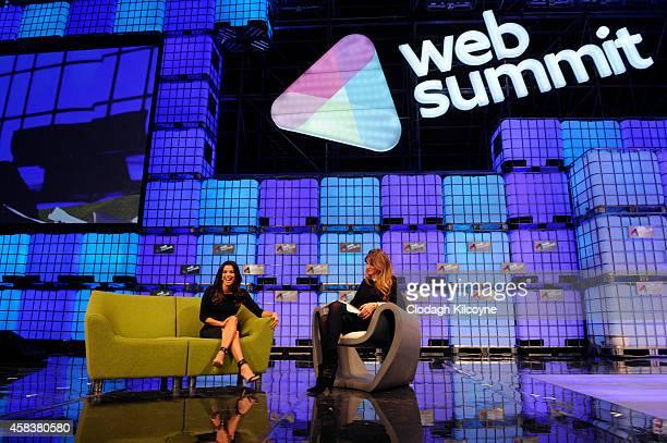 Eva Longoria and Jemima Khan in conversation at the 4th annual Web Summit on November 4 2014 in Dublin Ireland
