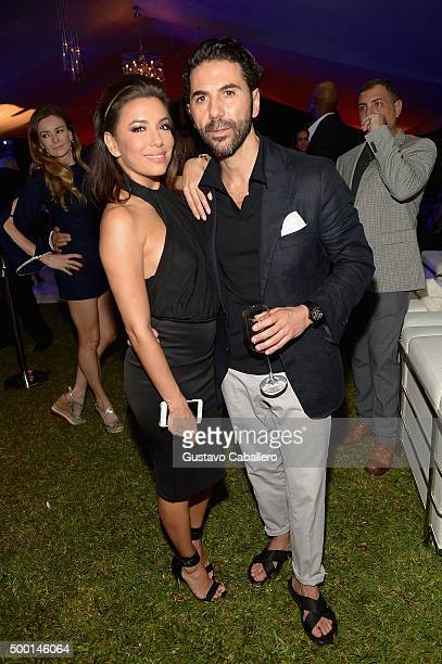 Eva Longoria and Jose Antonio Baston SHOPcom celebration of art with Phillipe HoerleGuggenheim presenting RETNA hosted by JR Loren Ridinger Aston...
