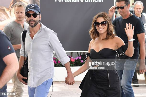 Eva Longoria and Jose Baston are spotted at Hotel Martinez during the 70th annual Cannes Film Festival at on May 23 2017 in Cannes France