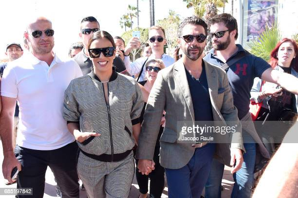 Eva Longoria and Jose Baston are spotted during the 70th annual Cannes Film Festival at on May 19 2017 in Cannes France