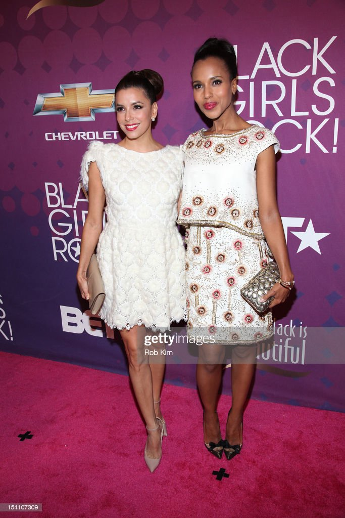<a gi-track='captionPersonalityLinkClicked' href=/galleries/search?phrase=Eva+Longoria&family=editorial&specificpeople=202082 ng-click='$event.stopPropagation()'>Eva Longoria</a> (L) and <a gi-track='captionPersonalityLinkClicked' href=/galleries/search?phrase=Kerry+Washington&family=editorial&specificpeople=201534 ng-click='$event.stopPropagation()'>Kerry Washington</a> attend Black Girls Rock! 2012 at the Paradise Theater on October 13, 2012 in the Bronx borough of New York City.