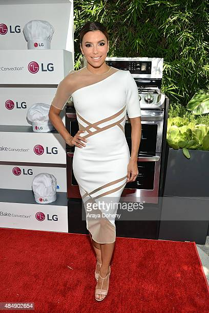 Eva Longoria and LG Electronics host LG 'Fam To Table' series at The Washbow on August 22 2015 in Culver City California