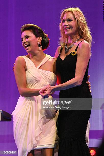 Eva Longoria and Melanie Griffith attend the Starlite Charity Gala 2011 produced by Avory Celebrity Access and Manda Events at the Villa Padierna...
