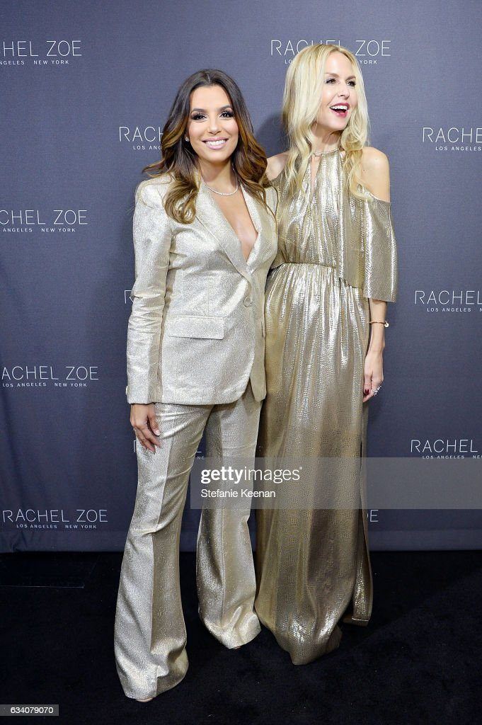 Eva Longoria and Rachel Zoe attend Rachel Zoe's Los Angeles Presentation at Sunset Tower Hotel on February 6, 2017 in West Hollywood, California.
