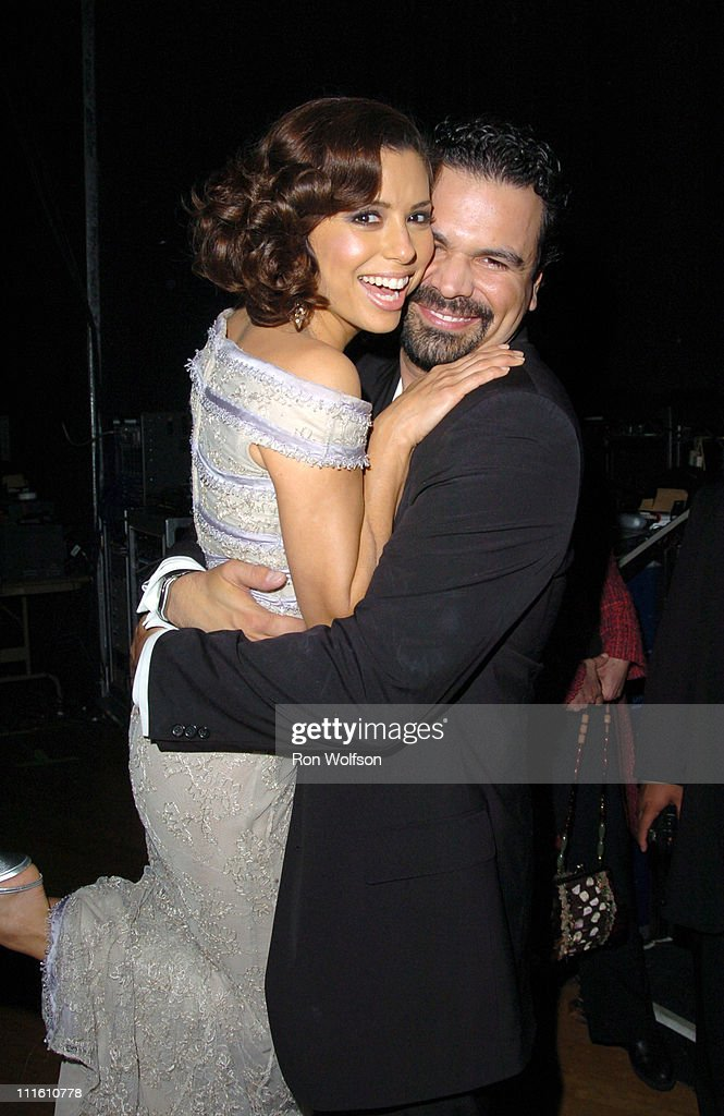 Eva Longoria and Ricardo Antonio Chavira during 12th Annual Screen Actors Guild Awards Backstage and Audience at Shrine Expo Hall in Los Angeles...
