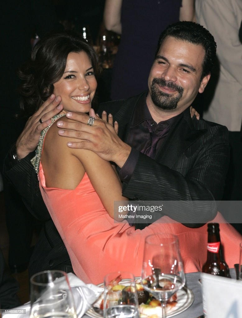 Eva Longoria and Ricardo Chavira during 57th Annual Primetime Emmy Awards Governors Ball at The Shrine in Los Angeles California United States