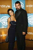 Eva Longoria and Ricardo Chavira during In Style Warner Bros Studios Host 8th Annual Golden Globe Party Arrivals at Oasis Court Beverly Hilton Hotel...