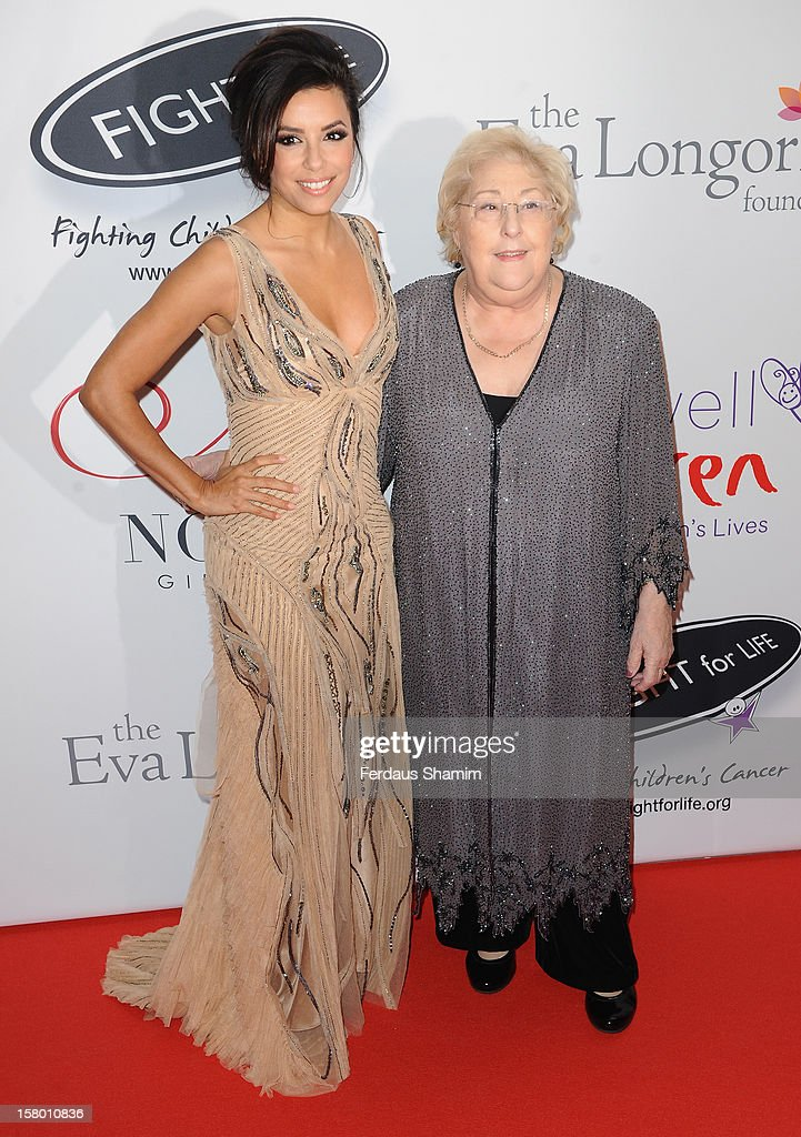 Eva Longoria and Sylvia Young attend the Noble Gift Gala at The Dorchester on December 8, 2012 in London, England.