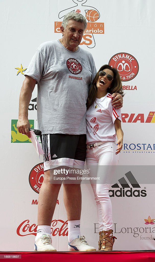 Eva Longoria and the ex basketball player Fernando Romay attend the Dynamic WalkaThon a charity long walk through the city of Marbella to raise...