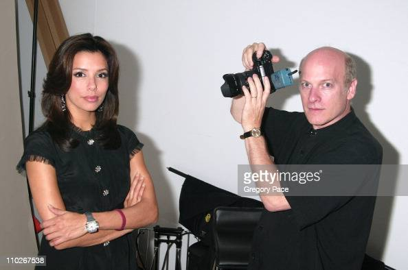 Eva Longoria and Timothy Greenfield Sanders photographer