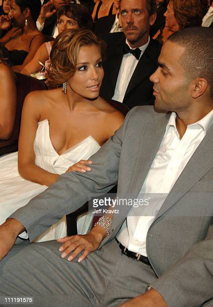 Eva Longoria and Tony Parker during 58th Annual Primetime Emmy Awards Audience at The Shrine Auditorium in Los Angeles California United States