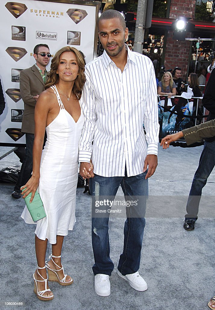 Eva Longoria and Tony Parker during World Premiere of 'Superman Returns' Arrivals at Mann's Village and Bruin Theaters in Westwood California United...