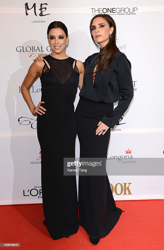 <a gi-track='captionPersonalityLinkClicked' href=/galleries/search?phrase=Eva+Longoria&family=editorial&specificpeople=202082 ng-click='$event.stopPropagation()'>Eva Longoria</a> and Victoria Beckham attend the London Global Gift Gala at ME Hotel on November 19, 2013 in London, England.