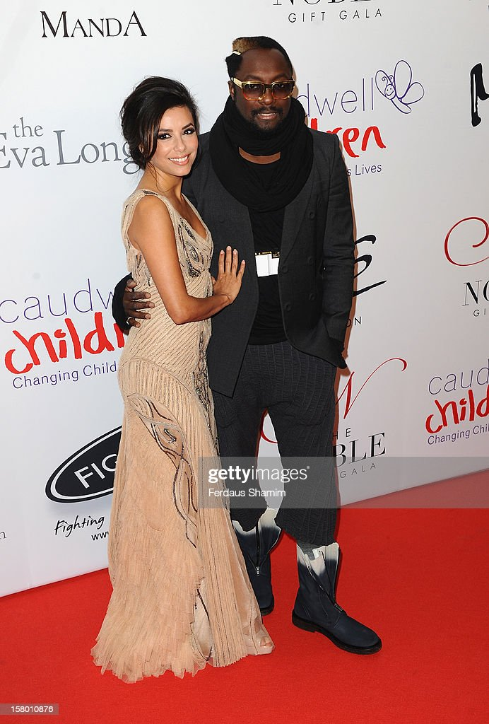 Eva Longoria and Will.i.am attend the Noble Gift Gala at The Dorchester on December 8, 2012 in London, England.