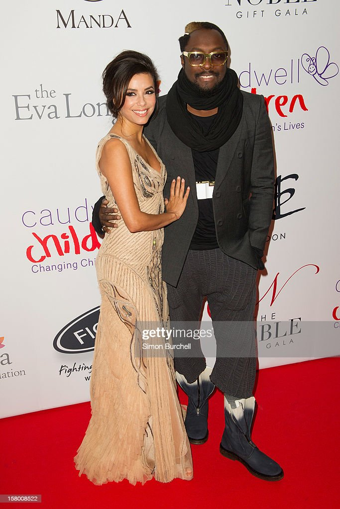 Eva Longoria and Will.I.am attends the Noble Gift Gala at The Dorchester on December 8, 2012 in London, England.
