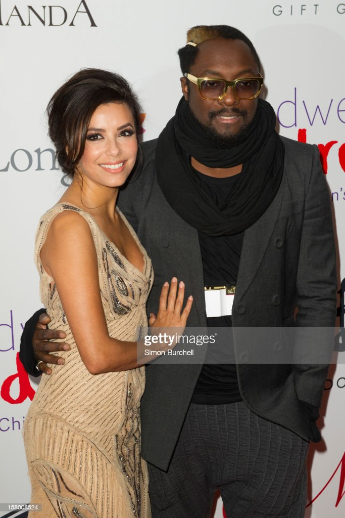 <a gi-track='captionPersonalityLinkClicked' href=/galleries/search?phrase=Eva+Longoria&family=editorial&specificpeople=202082 ng-click='$event.stopPropagation()'>Eva Longoria</a> and Will.I.am attends the Noble Gift Gala at The Dorchester on December 8, 2012 in London, England.