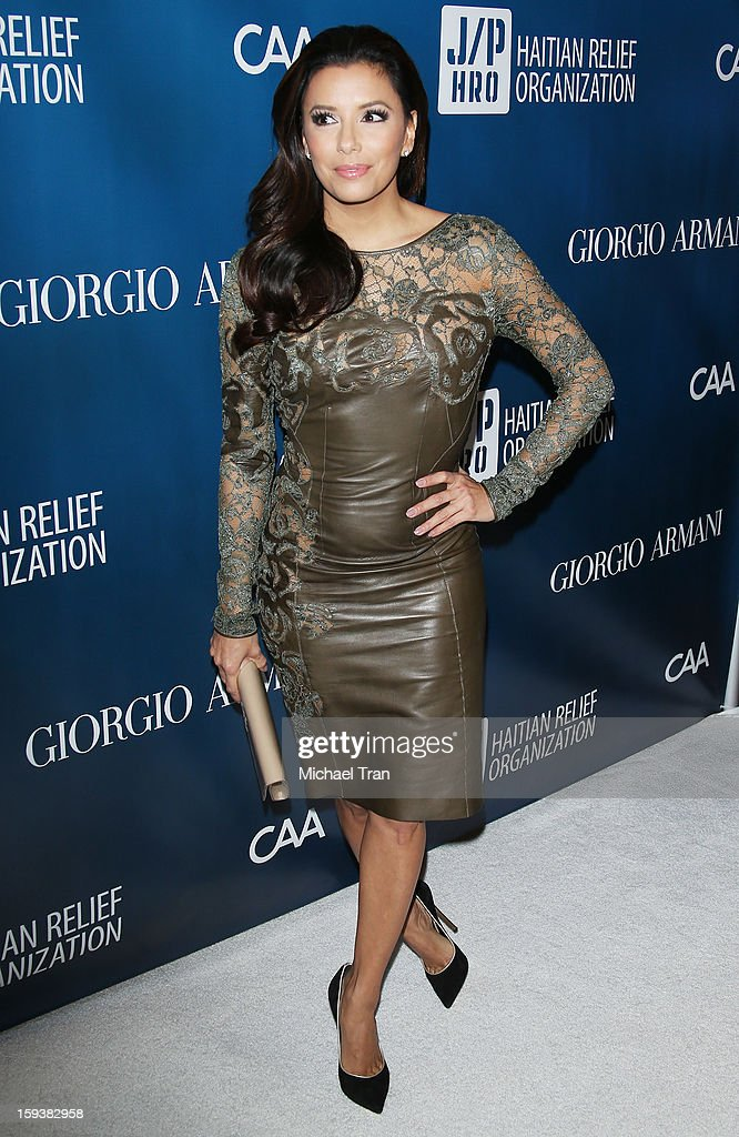 <a gi-track='captionPersonalityLinkClicked' href=/galleries/search?phrase=Eva+Longoria&family=editorial&specificpeople=202082 ng-click='$event.stopPropagation()'>Eva Longoria</a> arrives at the 2nd Annual Sean Penn & Friends 'Help Haiti Home' held at Montage Hotel on January 12, 2013 in Los Angeles, California.