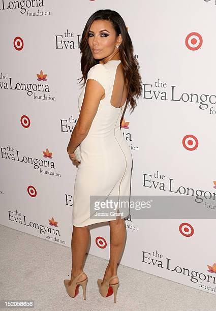 Eva Longoria arrives at The Eva Longoria Foundation's PreALMA Awards Dinner at Beso on September 15 2012 in Hollywood California