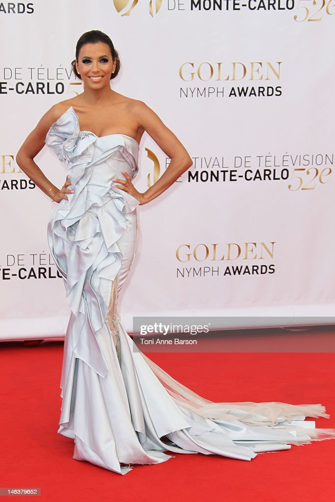 Eva Longoria arrives at the Golden Nymph Award during the 52nd Monte Carlo TV Festival Closing Ceremony on June 14 2012 in MonteCarlo Monaco