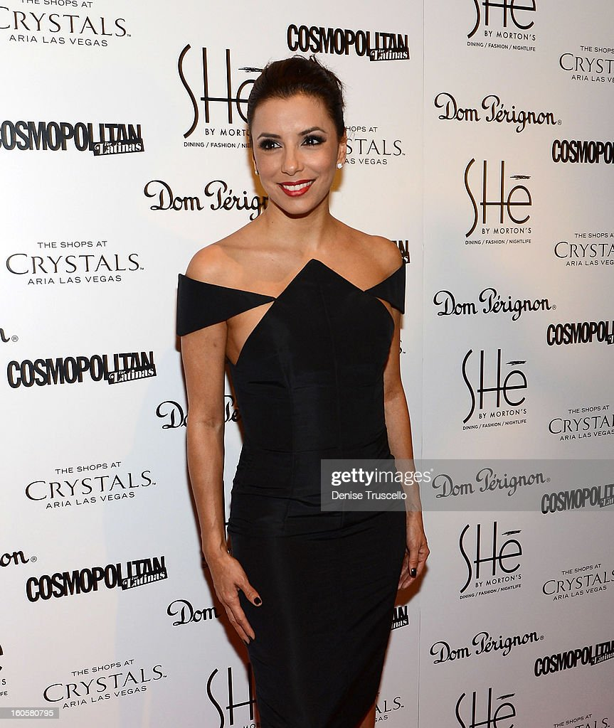 <a gi-track='captionPersonalityLinkClicked' href=/galleries/search?phrase=Eva+Longoria&family=editorial&specificpeople=202082 ng-click='$event.stopPropagation()'>Eva Longoria</a> arrives at the grand opening of SHe by Morton's at Crystals at CityCenter on February 2, 2013 in Las Vegas, Nevada.
