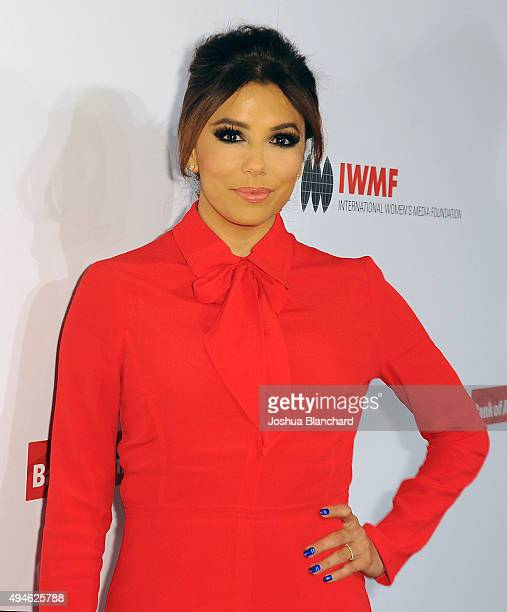 Eva Longoria arrives at the International Women's Media Foundation Courage Awards at the Beverly Wilshire Four Seasons Hotel on October 27 2015 in...